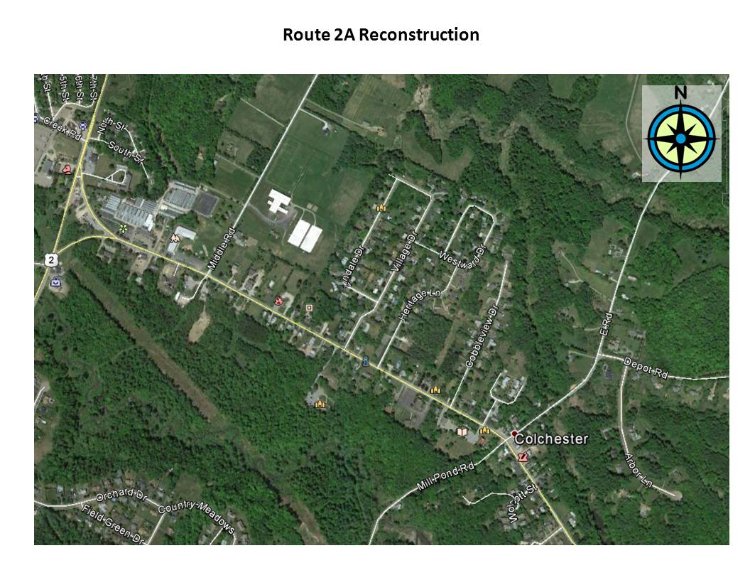 Route 2A Construction Map