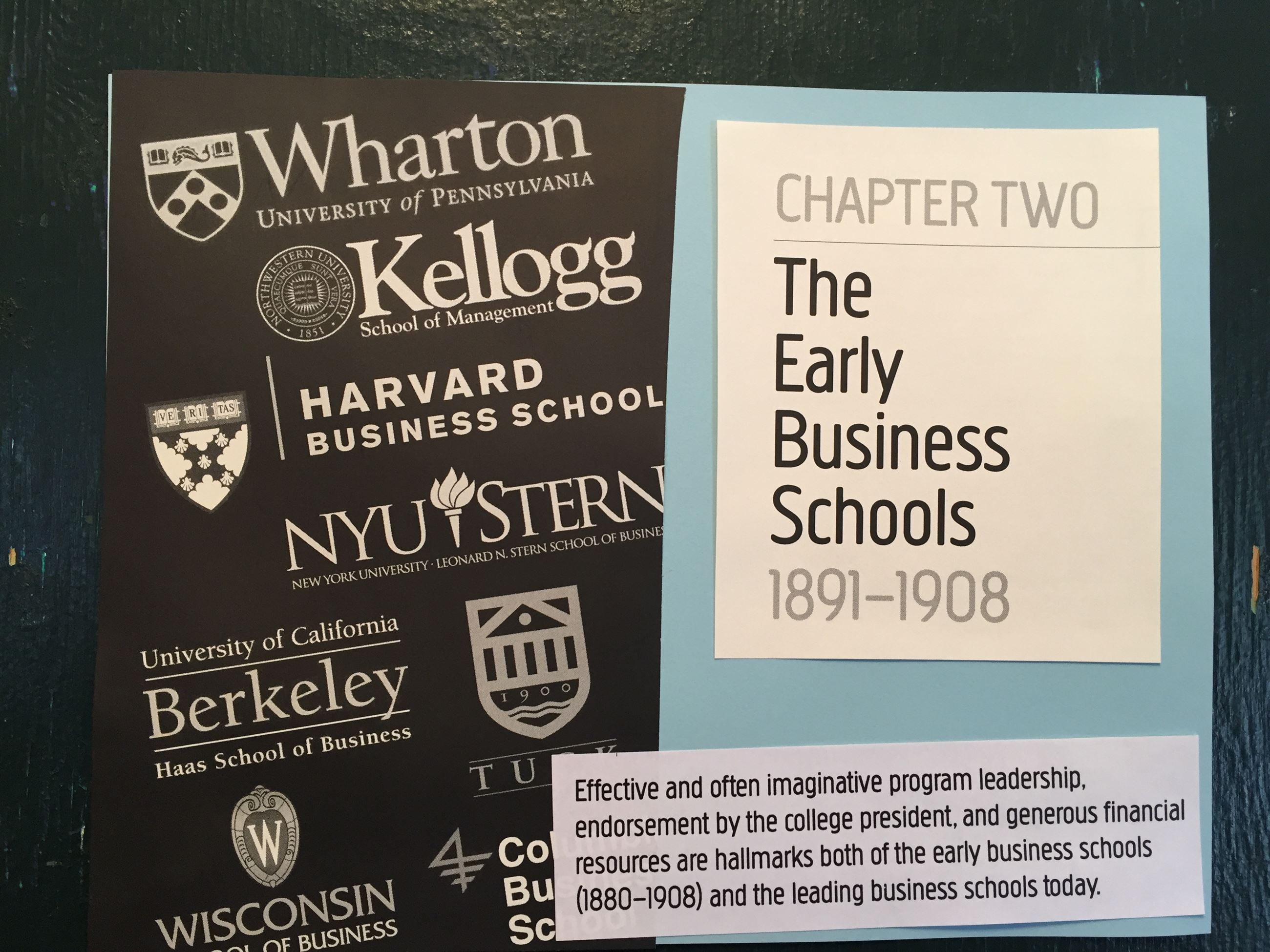The Early Business Schools