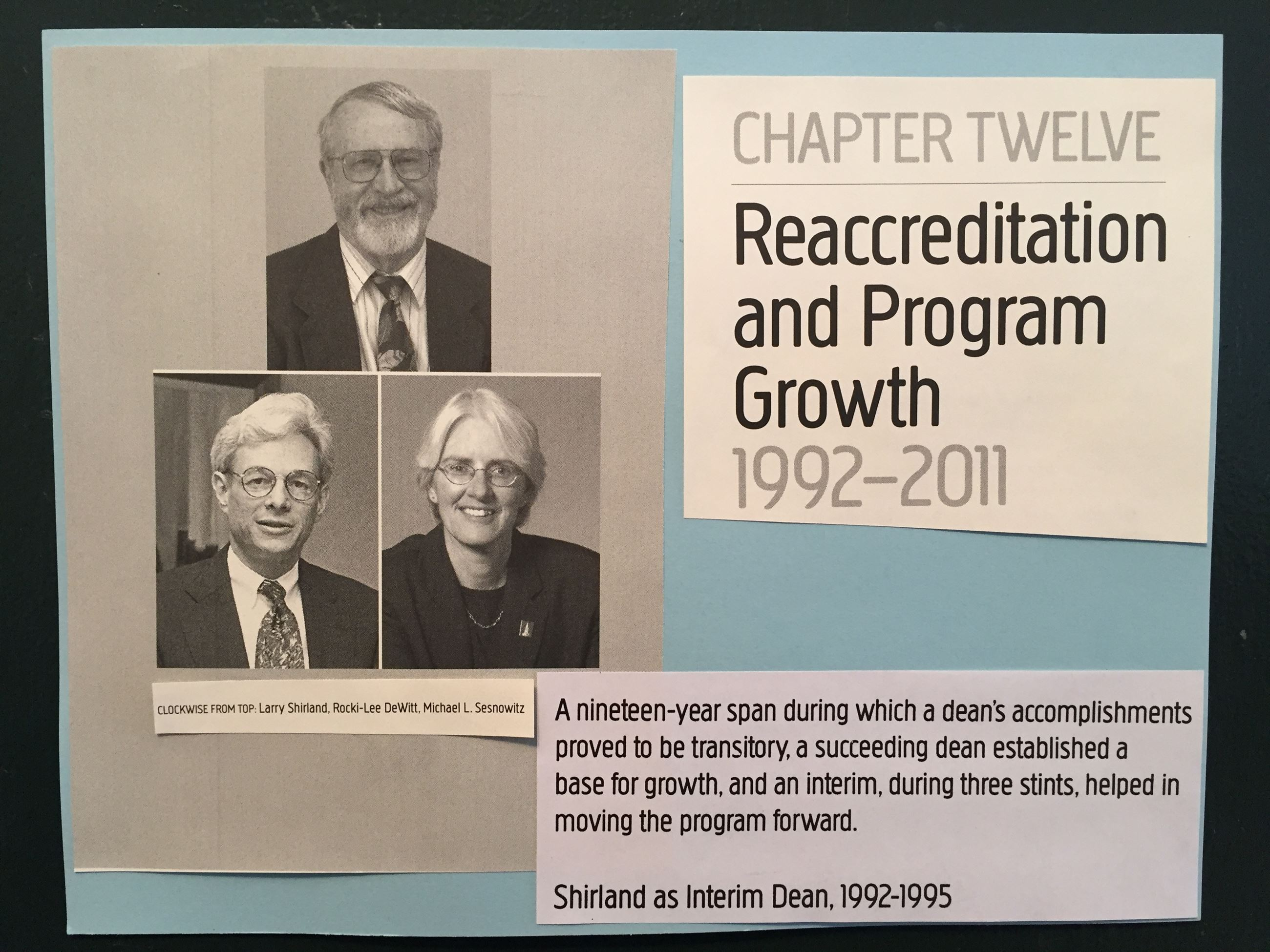 Reaccreditation and Program Growth