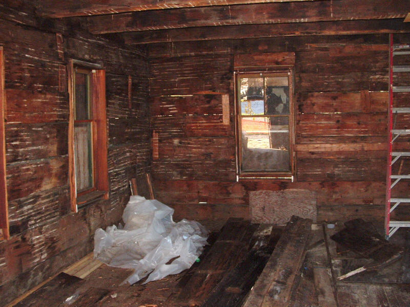 Log School House Before Restoration - Inside