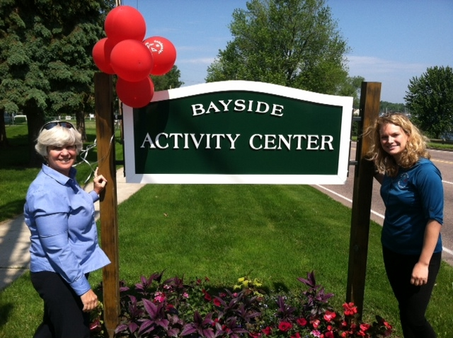 Bayside Activity Center sign