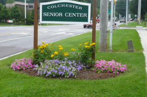 Colchester Senior Center sign