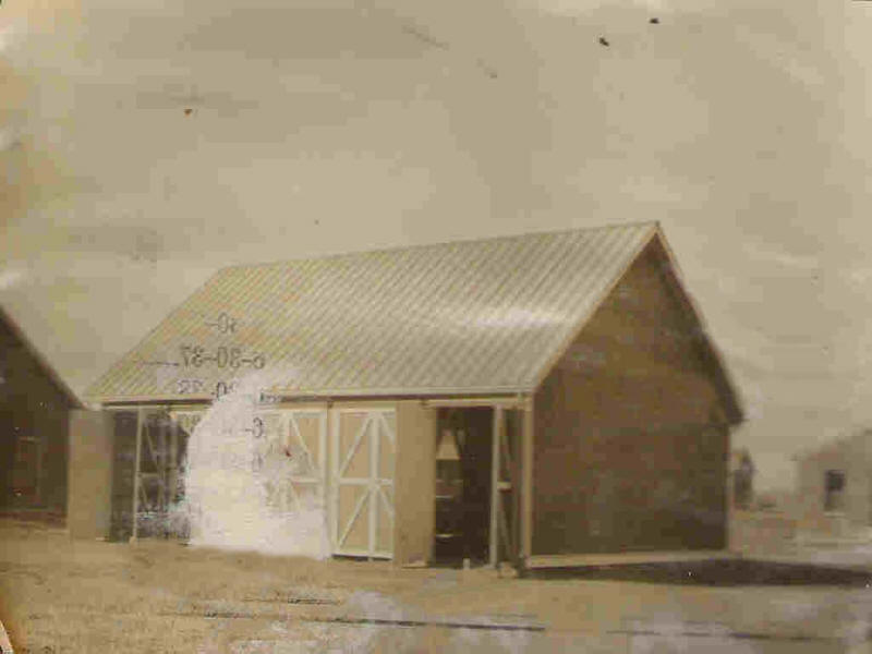 Reel Shed with doors open 1922