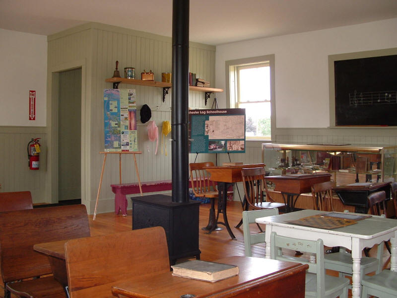 Interior of schoolhouse