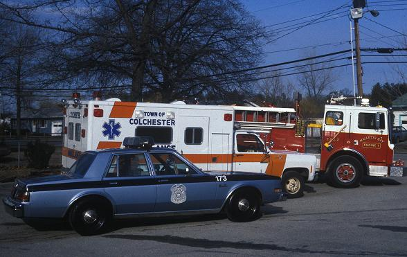 Historical Photo of Emergency Response Vehicles