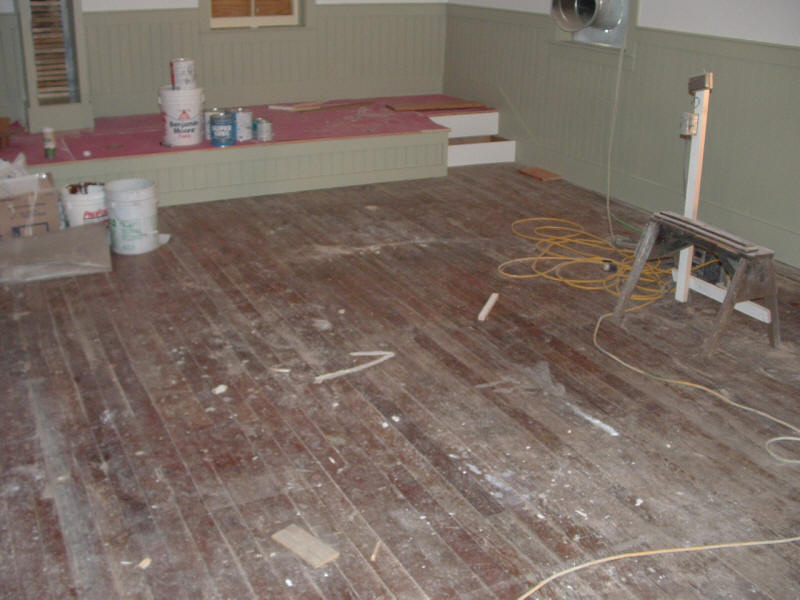 Floors are now ready for restoration