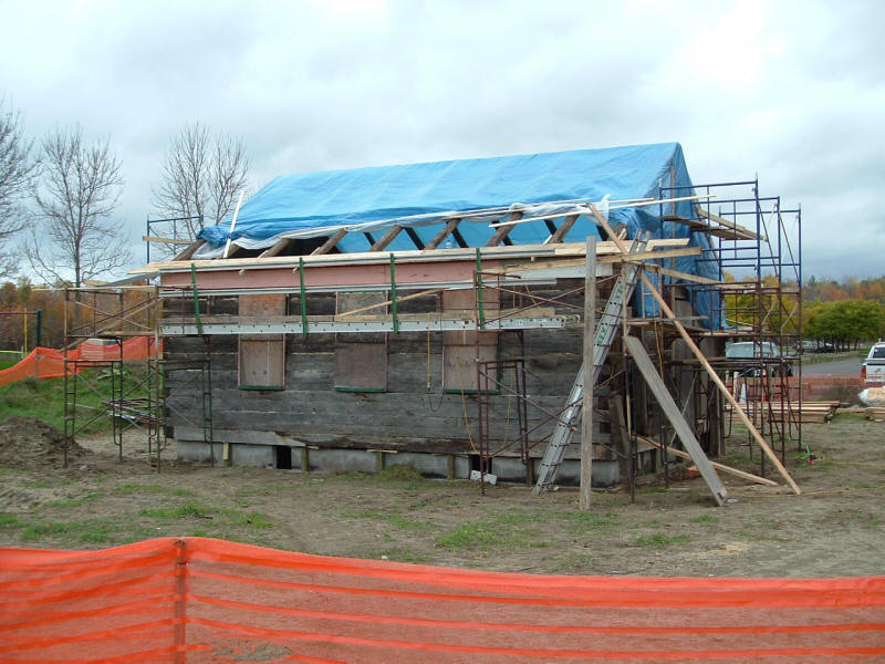 Schoolhouse is bolted to the foundation