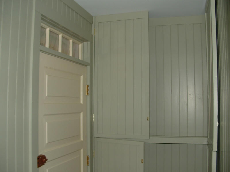 Closets house security panels when not in use