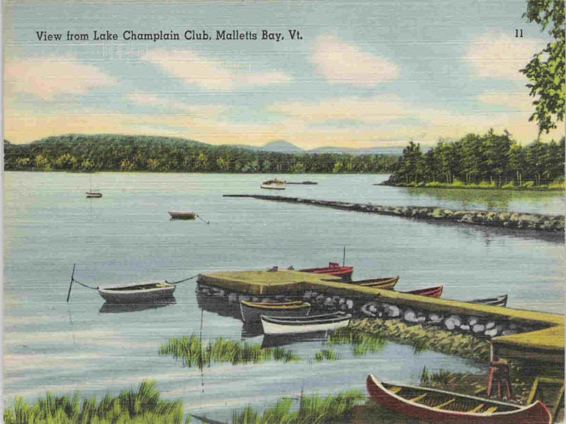 Champlain Club postcard