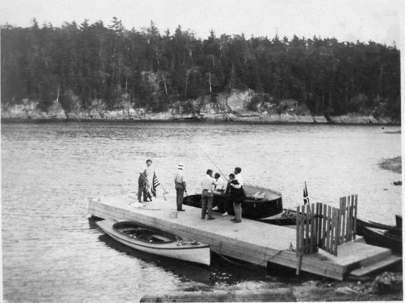 Mason camp dock at Coates Island