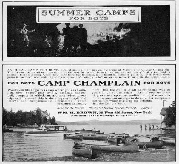 Camp Champlain advertisement