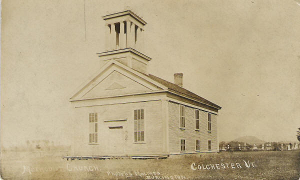 Methodist church burned 1922