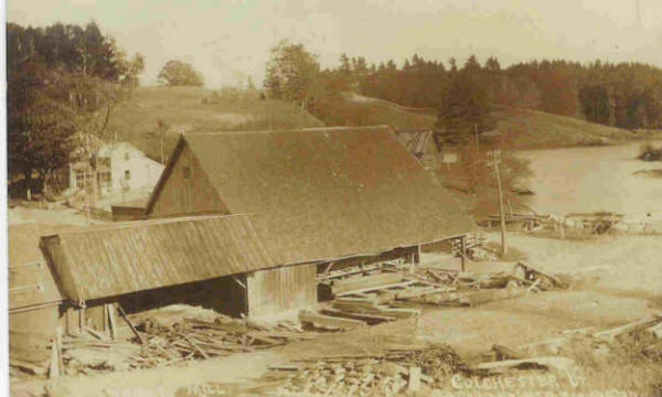 Wright saw mill with logs in yard
